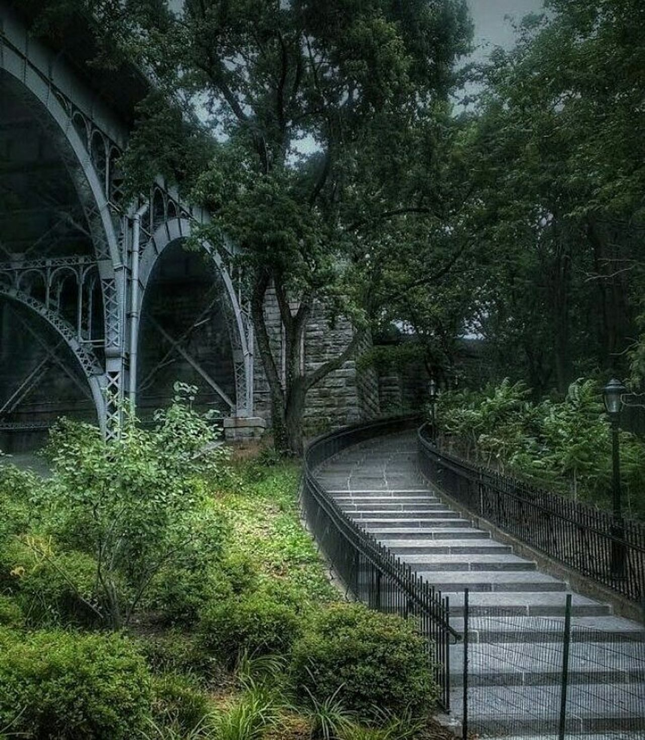 Pursue some path, however narrow and crooked, in which you can walk with love and reverence...Ralph Waldo Emerson Bridge - Man Made Structure Nature Outdoors EyeEm Gallery Beauty In Nature Landscape_Collection Adapted To The City With Land Rover Adapted To The City Brooklyn New York City