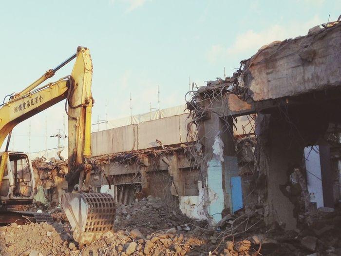 Underconstraction Demolition Destroyed