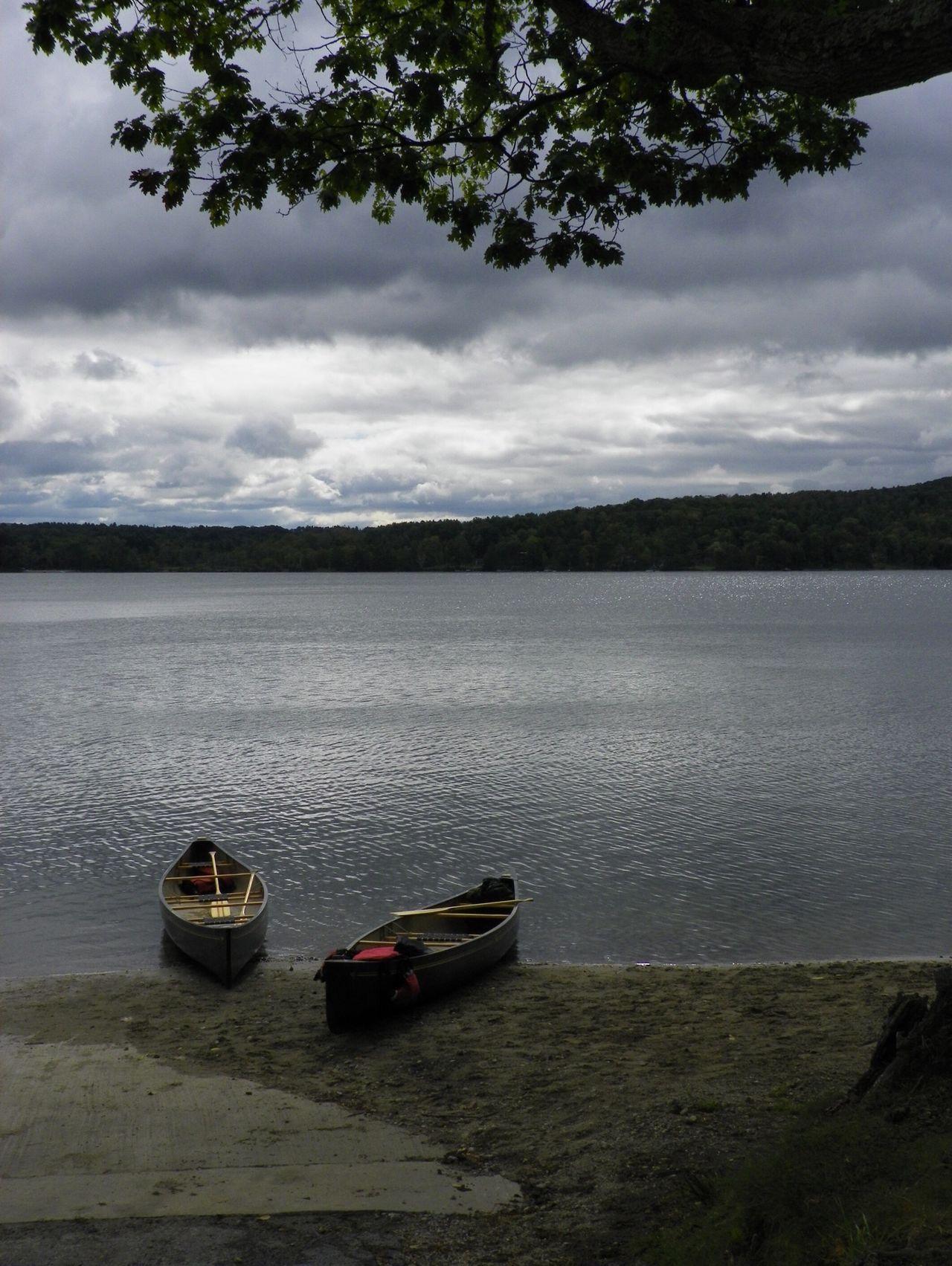 Stockbridge Bowl Serenity Water Canoes Berkshires Lake Deserted
