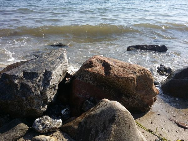 Water Sea Beach Shore Surf Rock - Object Rippled Rocky Tranquil Scene Tranquility Wave Ocean Vacations Nature Rock Formation Day Calm Outdoors Sunny Rock