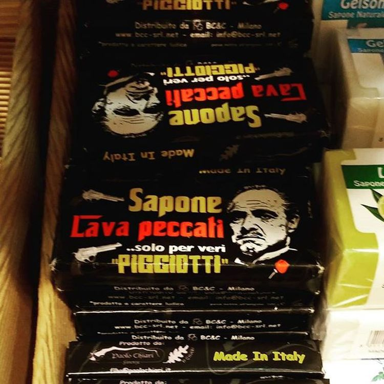 Hai la Coscienza sporca? Hai commeso orrendi Peccati ? Tremende colpe da fart perdonare? Basta preoccupazioni!!! Ora c'è il Sapone LavaPeccati . Solo per i veri picciotti e solo in Sicilia. Are you a badguy? You did badthings? You soul is so dirty? Now you can clean your deep soul whit this new incredible soap made in Sicily. Only for real picciotti. italy @lonelyplanet catania sicilia viaggiare picoftheday