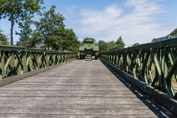 Overlord Museum, Colleville-sur-mer, Normandy, France, July 2017 D-Day Operation Overlord Overlord Museum Bridge - Man Made Structure Built Structure Cloud - Sky Diminishing Perspective Museum Overlord Tank The Way Forward Transportation Wood - Material