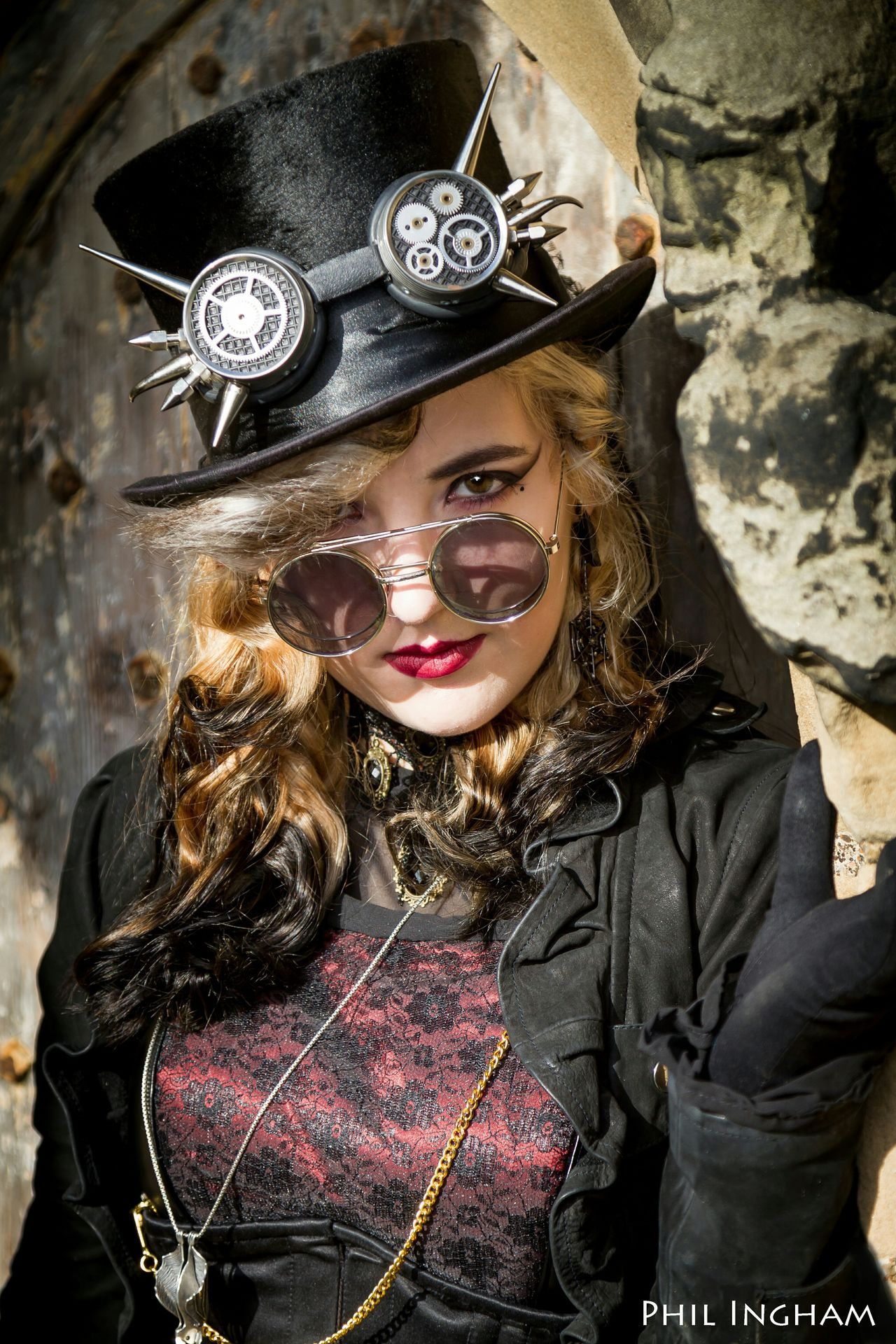 Love the Steampunk style. Taken at St Mary's Church, Whitby, Uk. Picturing Individuality Beauty Redefined EyeEm Best Shots Time Stood Still Portrait Of A Woman Showcase: November The Portraitist - 2016 EyeEm Awards