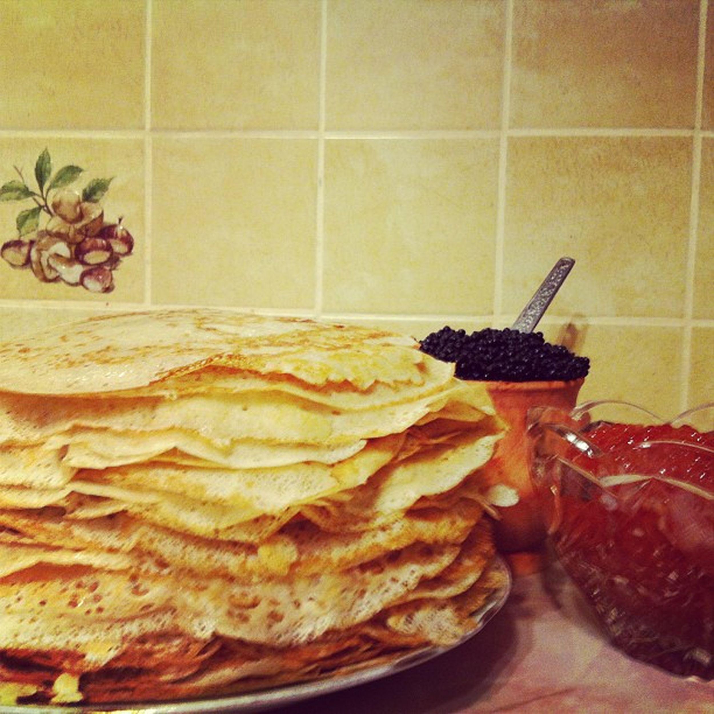 мамуля @galinka414 напекла блинов масленица Maslenitsa Festival of Pancakes Caviar Red Black