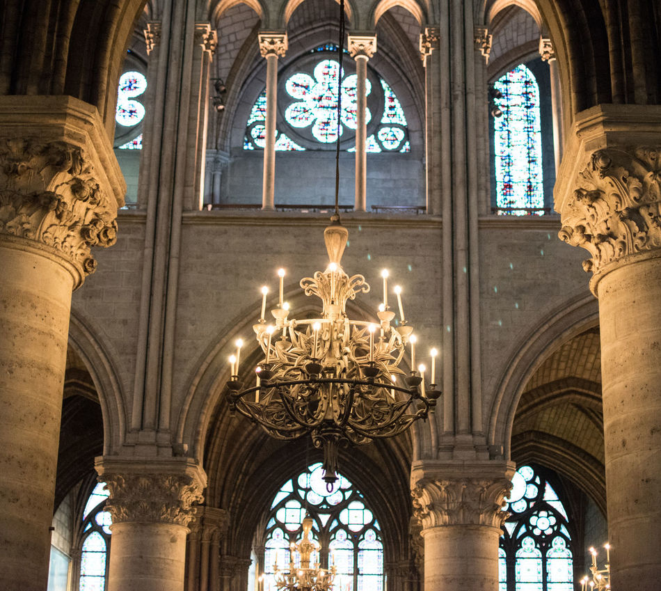 Notre-Dame de Paris Arch Architectural Column Architecture Built Structure Check This Out Day Eye For Photography Eye4photography  EyeEm Best Shots EyeEm Gallery EyeEmBestPics Hello World History Illuminated Indoors  Low Angle View No People Place Of Worship Religion Travel Destinations Window