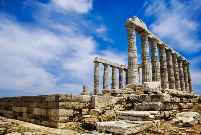 Temple of Poseidon at Sounio.. Ancient Ancient Civilization Ancient History Archaeology Architecture City Day Greece History No People Old Ruin Outdoors Ruined Sky Sounio Travel Travel Destinations The Great Outdoors - 2017 EyeEm Awards