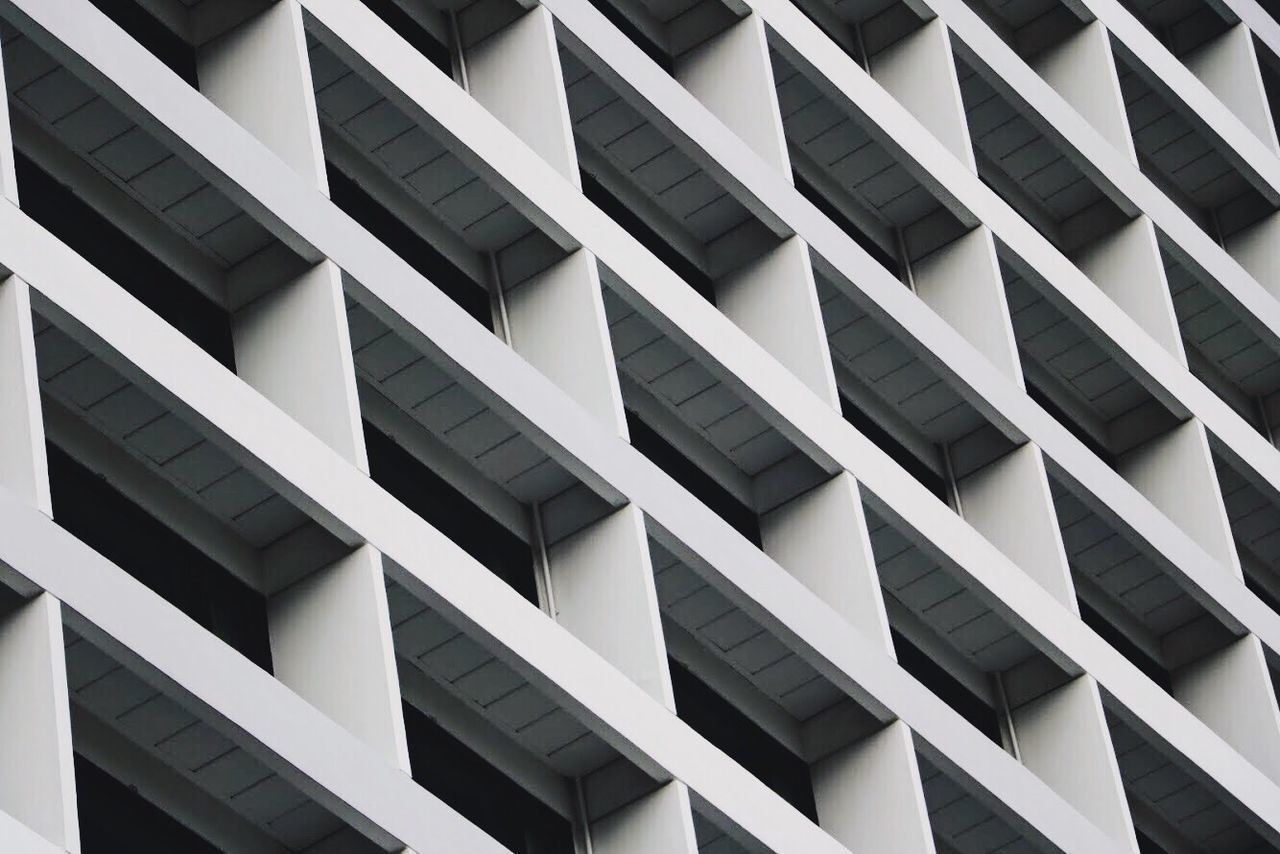 Repeat the pattern. Architecture Built Structure Building Exterior Full Frame Window Backgrounds Low Angle View No People Day Modern Outdoors White City Travel Destinations Architecture EyeEmNewHere Singapore VSCO Arts Culture And Entertainment White Background EyeEm Selects Modern Repetition Abstract Minimalism