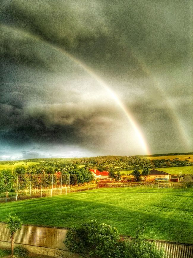 Taking Photos Czechrepublic Storm Cloud Rainbow Stormiscoming Nature Nature Photography Summerdays  Clouds And Sky HDR