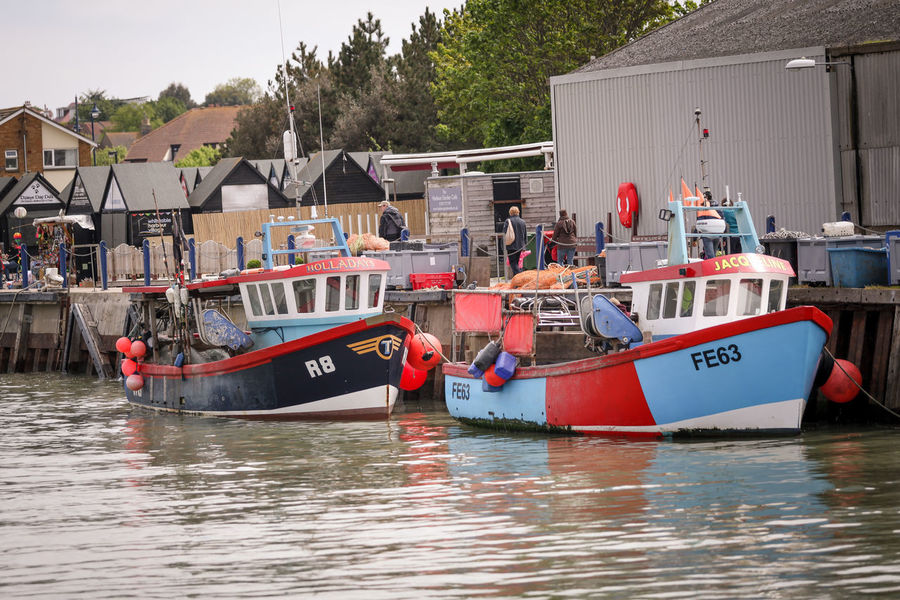 Fishing Boats Architecture Boat Built Structure Day Ferry Fishing Boat Fishing Boats In A Row Journey Kent Mode Of Transport Moored Nature Nautical Vessel No People Passenger Craft Tranquility Transportation Water Waterfront Whitstable Harbor