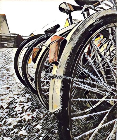 EyeEmNewHere Transportation Mode Of Transport Wheel Land Vehicle No People Metal Stationary Rusty Outdoors Building Exterior Sky Day Spoke Tire