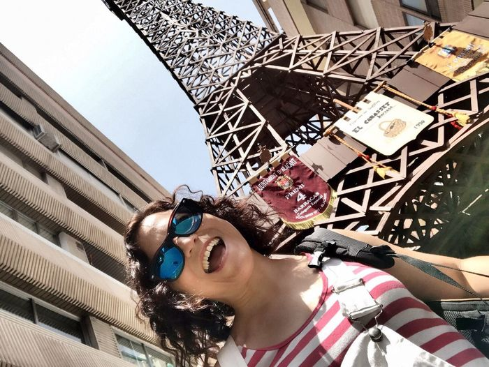 Paris In Alicante! Hogueras 2017 Alicante Bornfire Fest 2017 Alicante Costa Blanca SPAIN Leisure Activity Lifestyles Outdoors Sunglasses One Person Young Adult Day Young Women Low Angle View Building Exterior Sky
