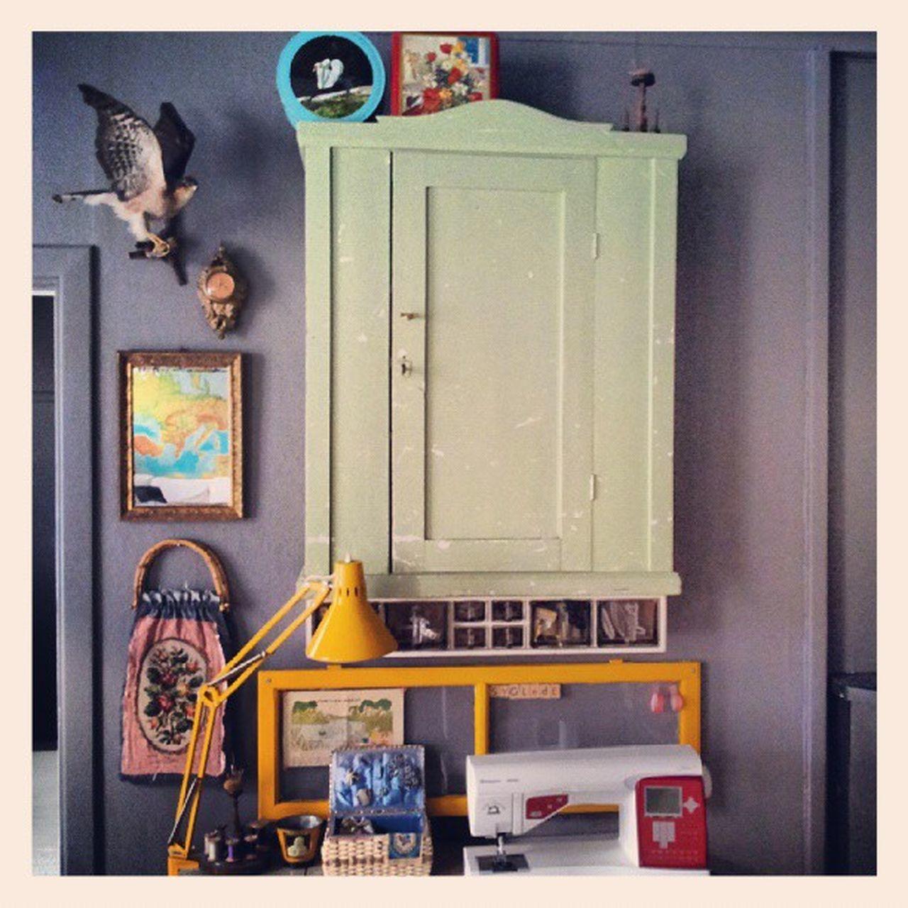 Halden Vintage NewMachine Husqvarna myhouse happy yellow