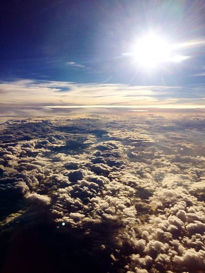 Over The  Clouds Sun Sunshine Flying Nuvole Sole Volare Viaggiare Travel