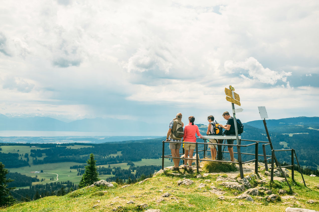 Adult Adventure Beauty In Nature Cloud - Sky Day Hiking Lausanne Leisure Activity Lifestyles Men Mountain Nature Outdoors People Real People Scenics Sky Standing Swiss Alps Swiss Mountains Switzerland Weekend Activities