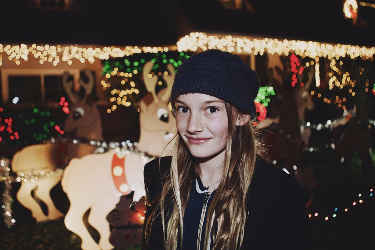 Open Edit Christmas Lights Happy Holidays! Night Lights Losangeles Color Portrait Christmas