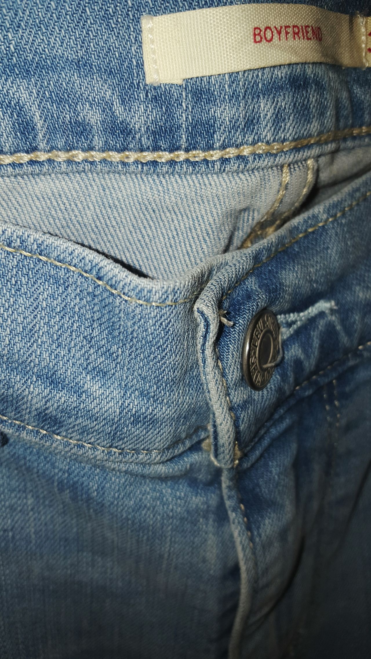 Levis BF Jean Full Frame Close-up Textile Backgrounds Jeans Textured  No People Pocket  Cloth Day LEVIS™ Boyfriend Jeans
