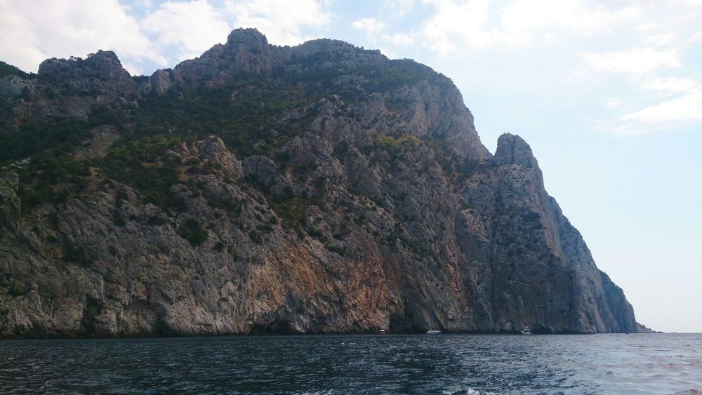 Балаклавские скалы. пейзаж горы Море Sea Mountains Landscape Nature Cliff