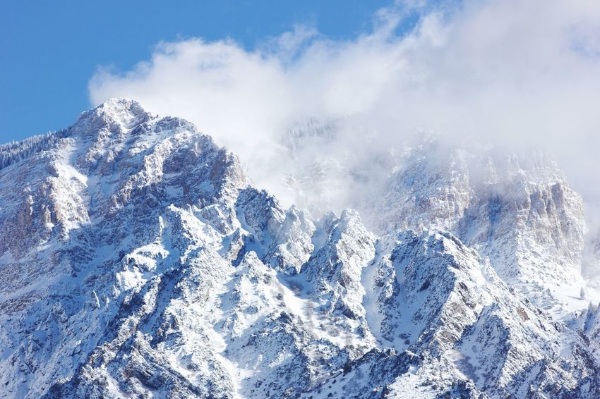 Tranquility Snow Nature Beauty In Nature Mountain Scenics Sky Winter Tranquil Scene Cold Temperature Day Outdoors No People
