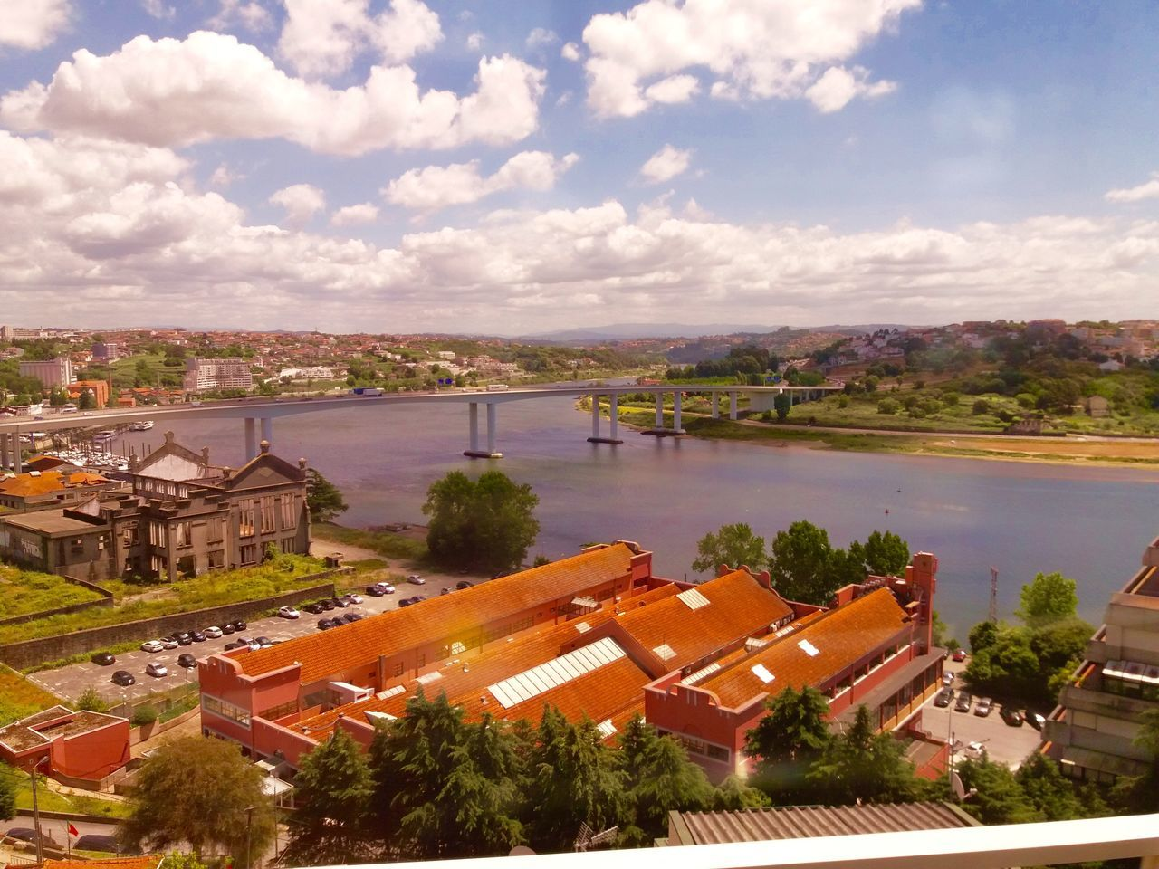 Architecture Cloud - Sky Douro  High Angle View Horyzont Landscape Nature No People Porto River Roof Sky Train Station Tranquility Travel Destinations Water