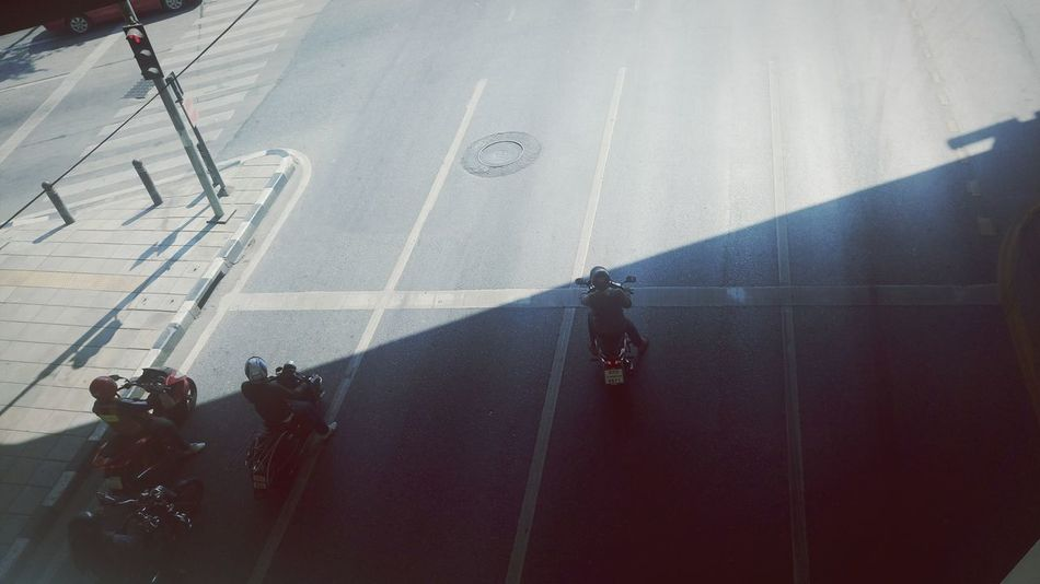 Outdoors Roads Trafic < Motercycle Light And Shadow Day