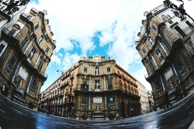 Fish-eye Lens in Palermo, Italy Streetphotography Street Photography Taking Photos Eye4photography  EyeEm Best Shots Urban Geometry Fresh 3 Open Edit Urban Landscape Architecture Awesome Architecture Showcase: February