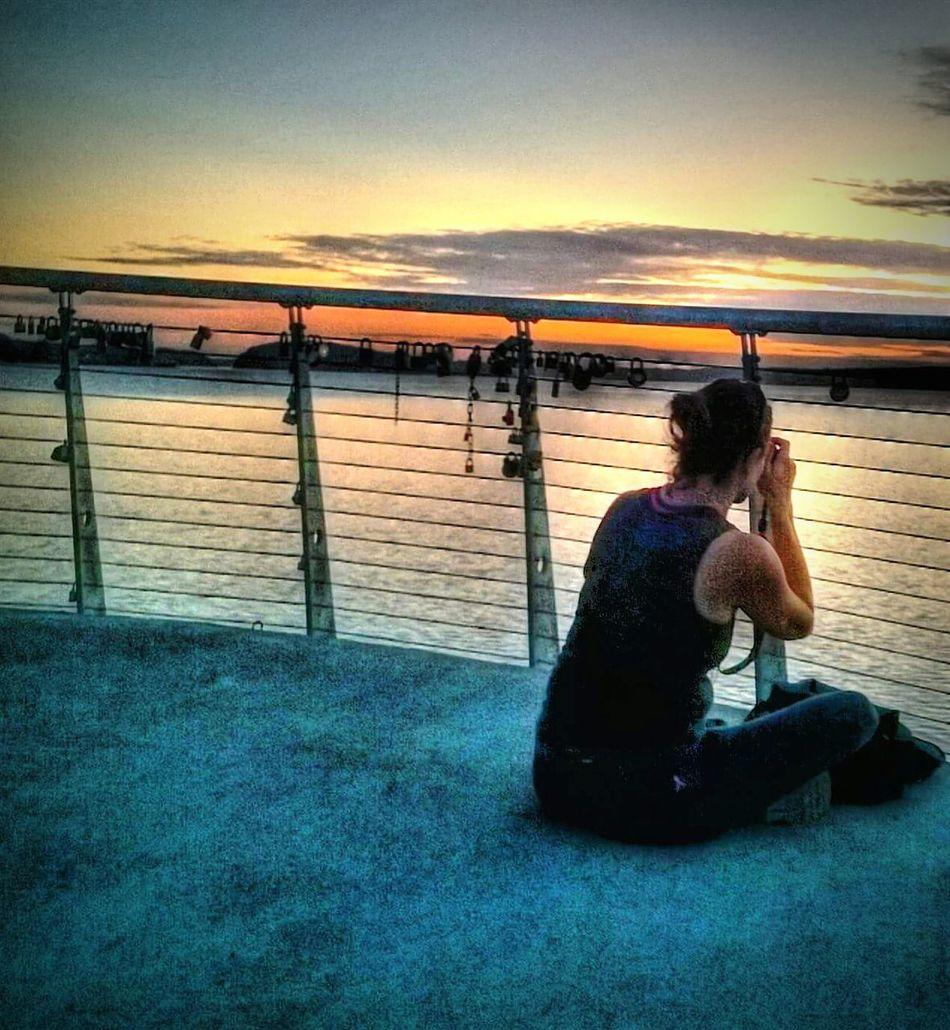 Photographing The Photographer Photographing Photographers Photographing Sunsets Puget Sound, Washington Chambers Creek University Place Wa