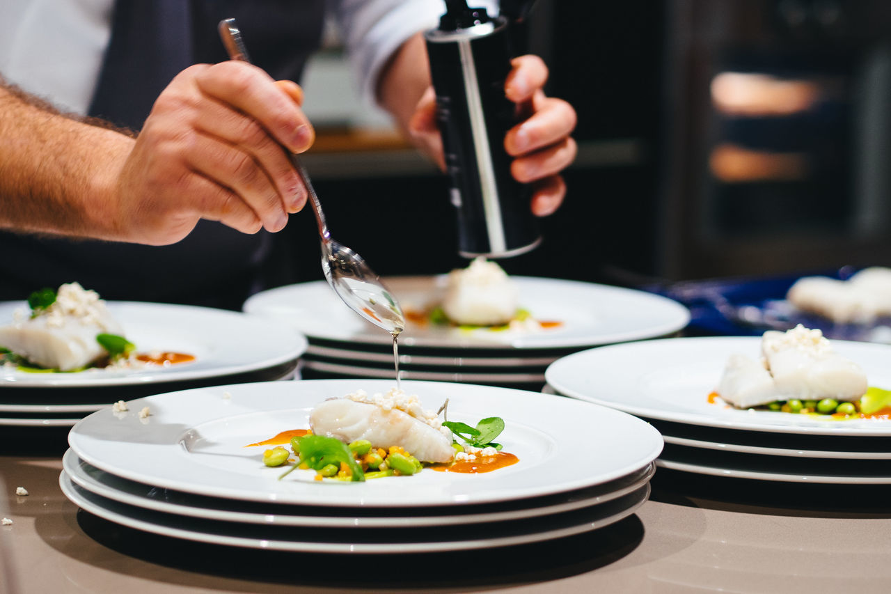 Beautiful stock photos of germany, Chef, Commercial Kitchen, Cropped, Fish