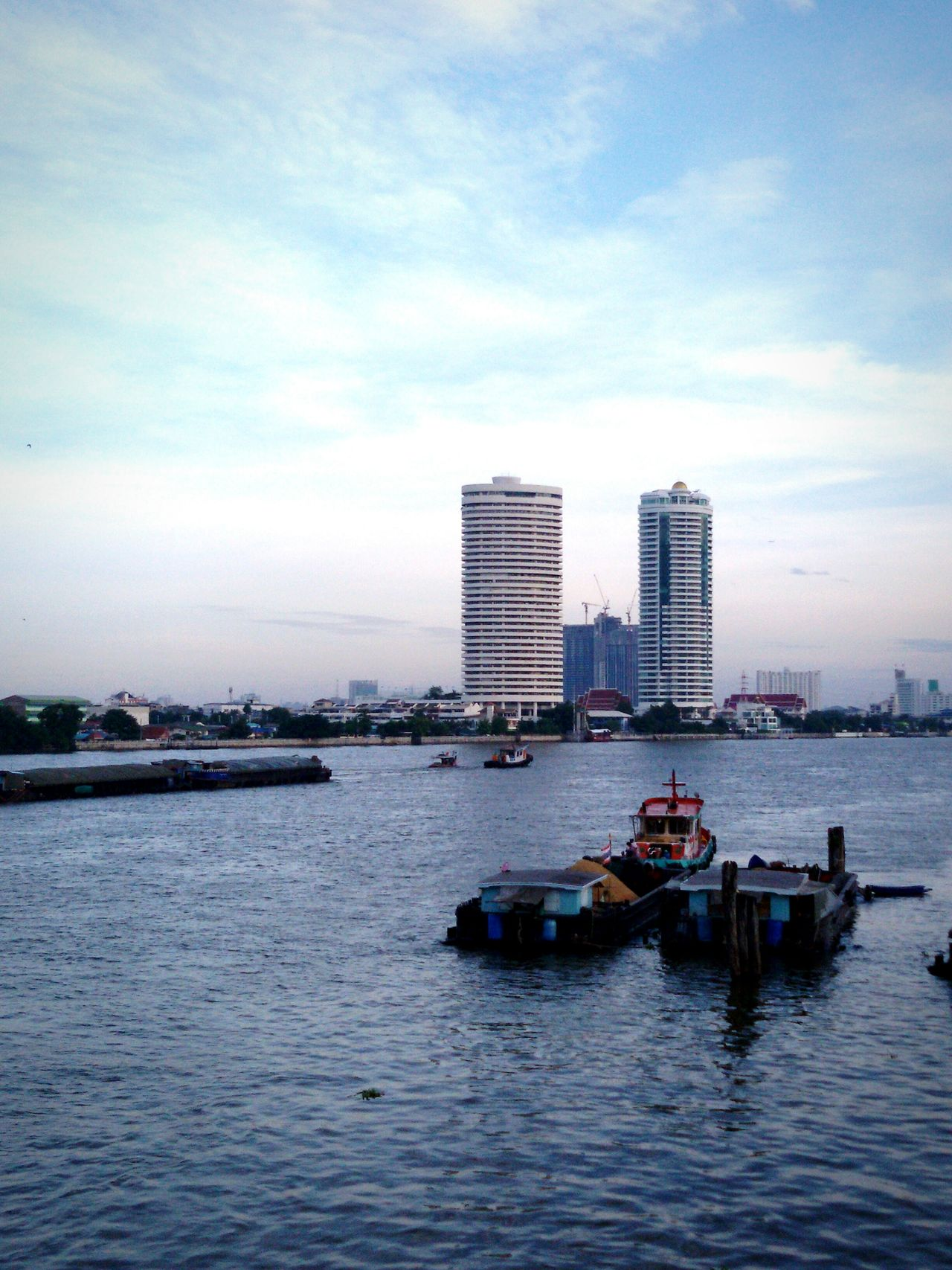 Chao phraya river: Architecture Cloud - Sky Water Outdoors Nautical Vessel No People Day Skyscraper Sky Cityscape .