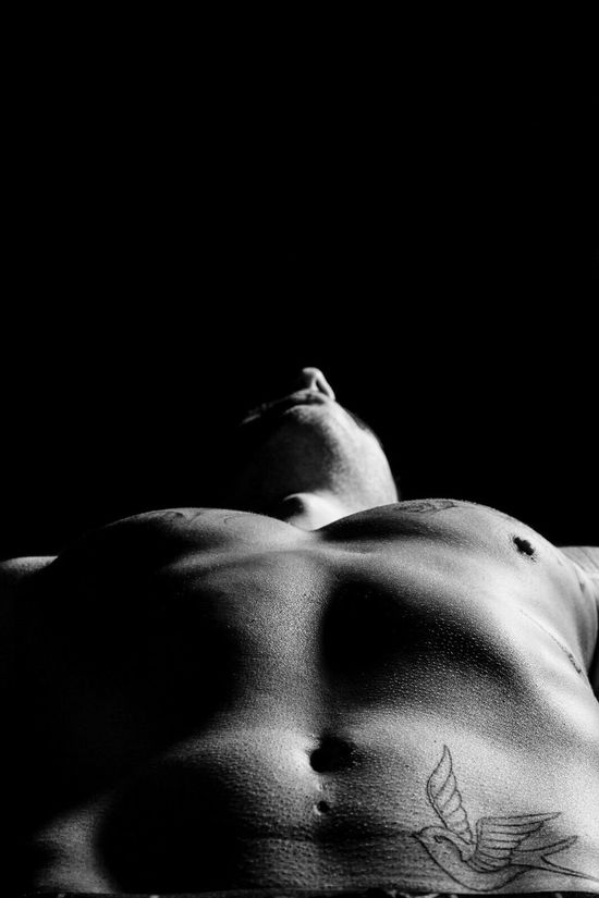 Bird Black Background Human Body Part One Person Shirtless Human Skin Studio Shot Lying Down Close-up People Adults Only Human Face Adult Beauty Young Adult Indoors  Human Eye Erotic_art Nüde Art. Boy Lifestyles Tattoo Man Erotic_monochrome Photography Photooftheday