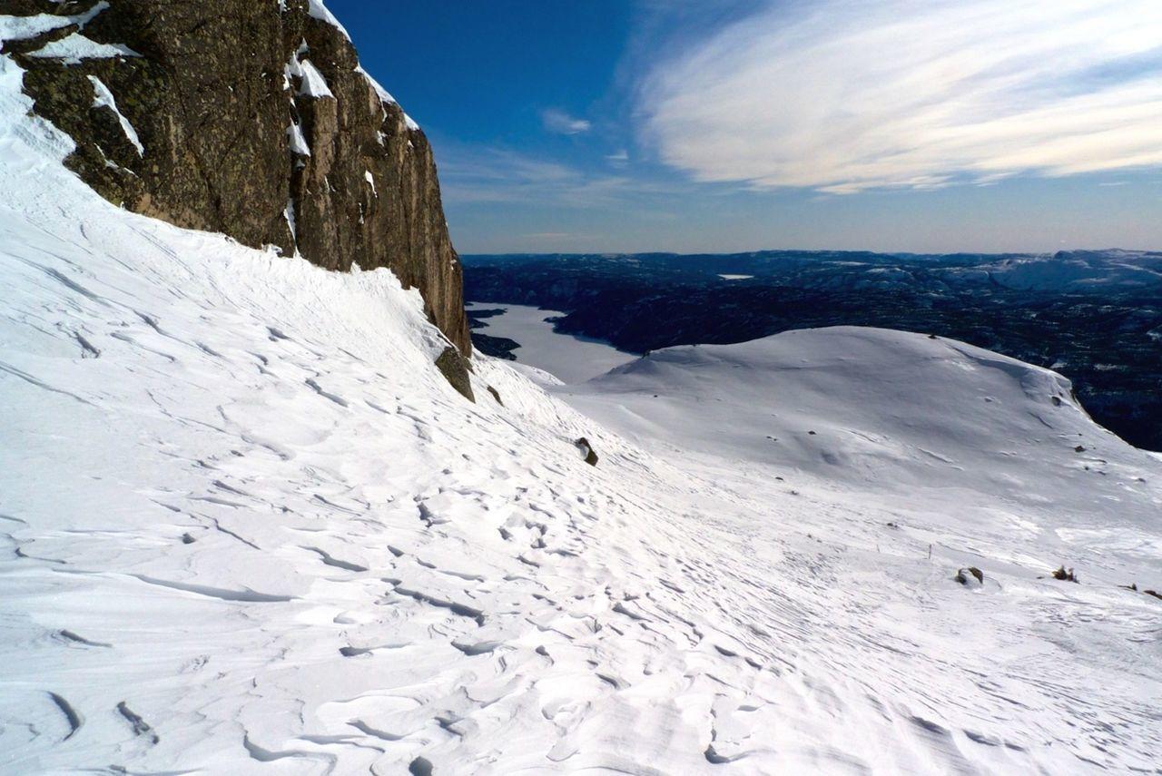 Norway Skiing Mountain View Freeride