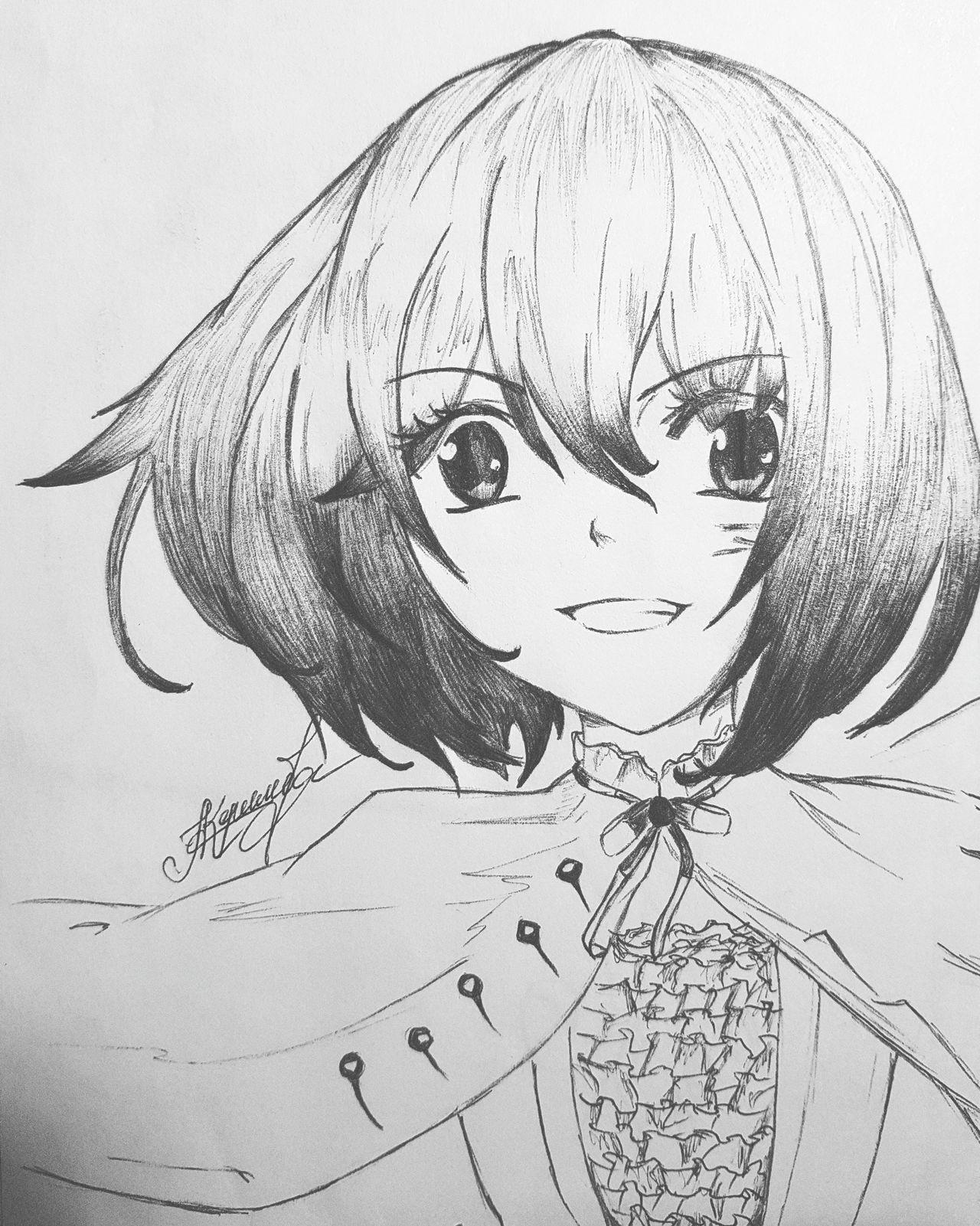 Anime Manga Art Blackandwhite Cute Draw Drawing First Eyeem Photo