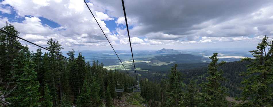 Cable Cloud Cloud - Sky Cloudy Elivation Forest Green Color Idyllic Landscape Mountain Mountain Range Moutain View Mt Humphries Arizona 12,637. Outdoors Overhead Cable Car Panorama Panoramic Panoramic Photography Sky Sky Lift SnowBowl Stormy Sky Tree Vally View