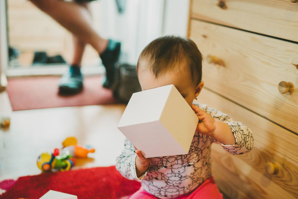10 Month Baby At Home :) Baby Baby Eyes Baby Girl Baby Hand Babygirl Babyhood Box Box For Logo Box In Baby's Hand Curiosity Curious Exploring Exploring New Ground Loving Not Branded Box One Year Old Baby Pacifier Pacifier In Mouth Paper Box People Portrait