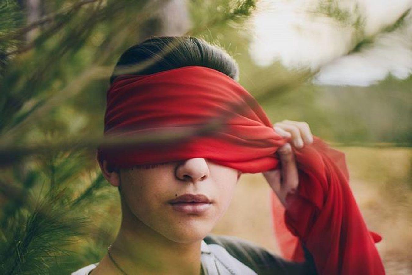 Blind. ❌ Scarlett Red Silk Blind Linen Colors Green Woods Forest Trees Pines Valley Orchard Blinded Iseered VSCO Vscocam Vscovisuals Vscogrid Vscofilm Vscored Nikond5300 Face Fashion Style seeconceptualconceptualphotography