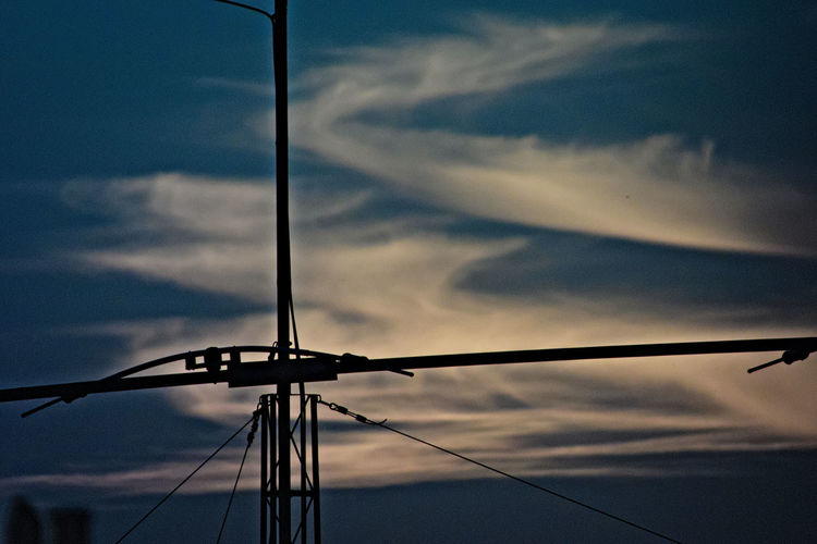 Airwaves Antenna Arctic Sky Cable Cloud - Sky Clouds In The Sky Cold Days Cold Temperature Communication Tower Connection Details Electricity  Electricity Pylon No People Power Line  Power Supply Silhouette Sky Sunset Technology Shades Of Winter