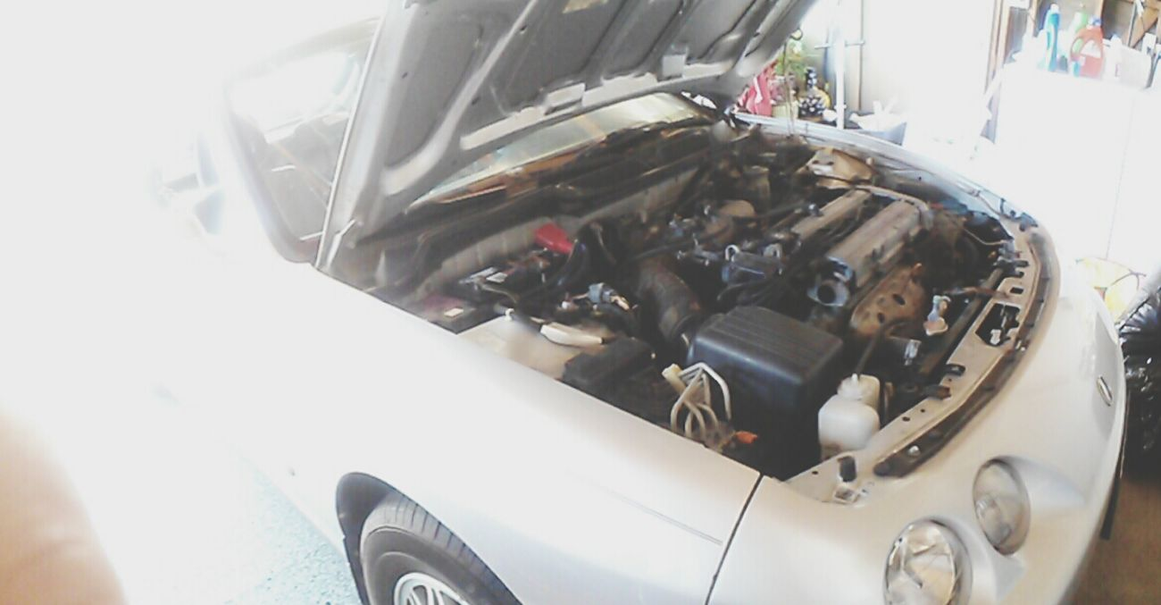 Engine bay in the teggy .. its a work in progress Acuraintegra Dc4 Enginebay Teggy