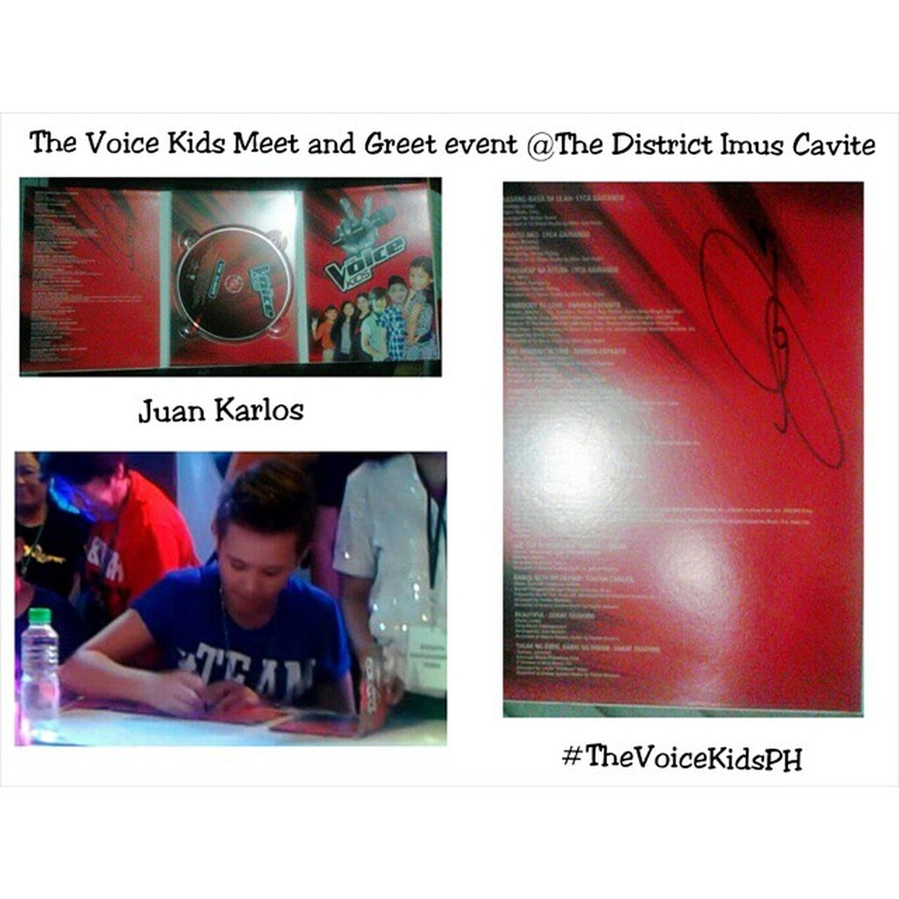 Juan Karlos (JK) salamat sa autograph idol :) TheVoiceKidsPH MeetAndGreet TheDistrictImusCavite