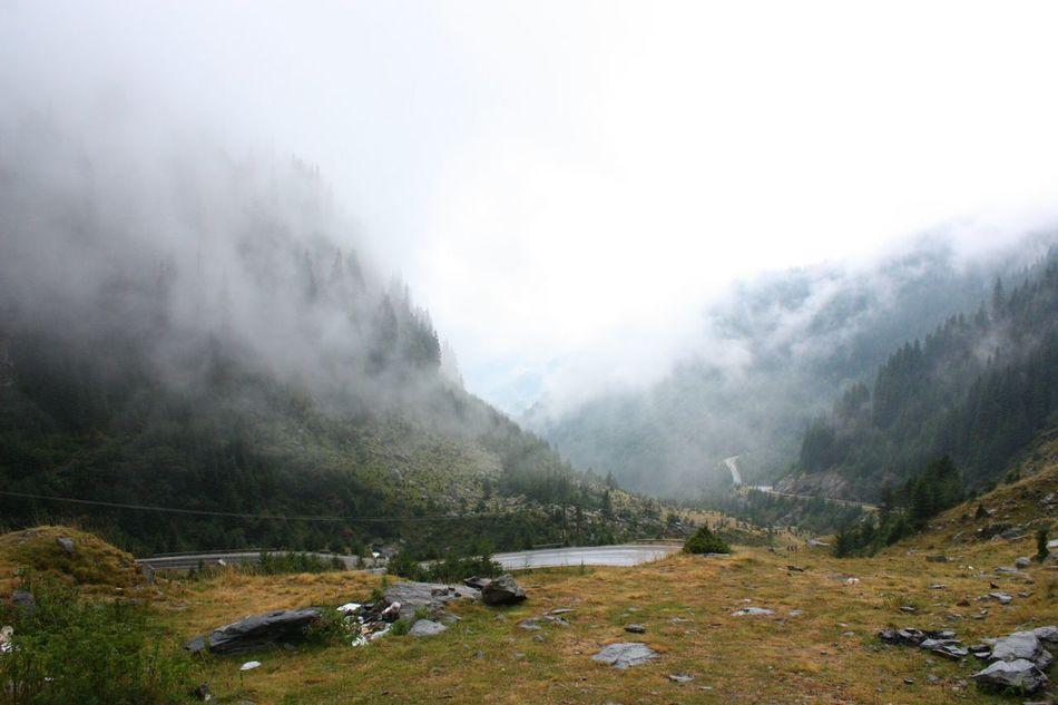 Hazy misty road. Romania Road Mountains Mountain View Transfagaraşan Transfagarasan Pass Edge Of The World