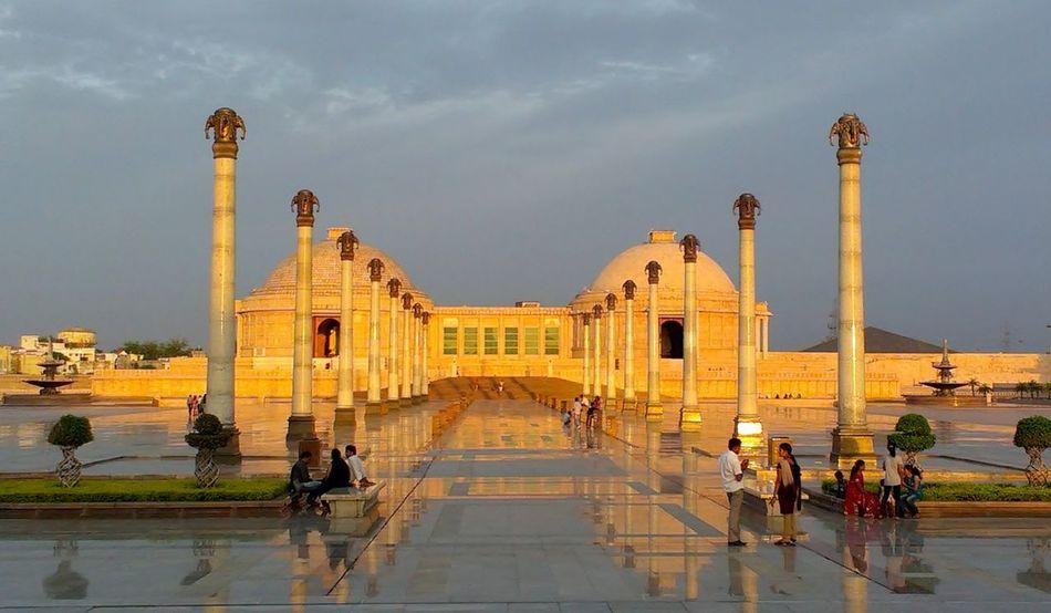 Sunset Ambedkar Park,monument Lucknowdiaries Lucknow👌City Travel Destinations Monument Reflection Architecture