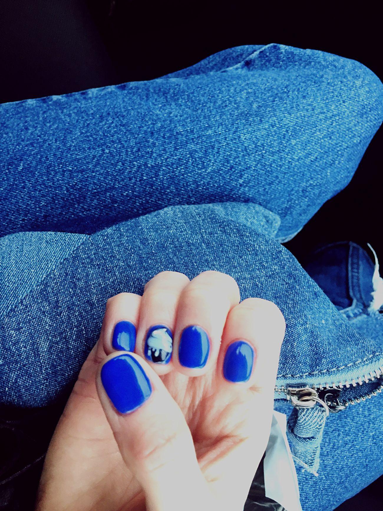 Denim. Nailpolish Blue Cake♥ Fingers Hello World