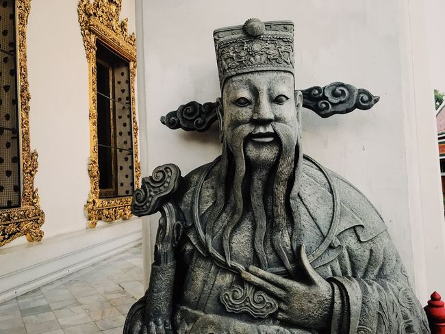Statue Art And Craft Sculpture Human Representation Creativity Male Likeness No People Day Outdoors Built Structure Close-up Architecture