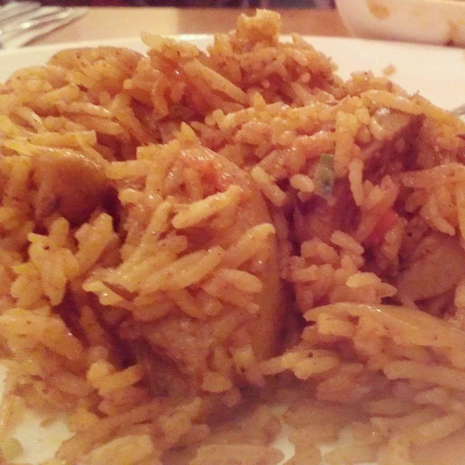 Enjoying very hot briyani rice. Instafood Indianfood Hallal