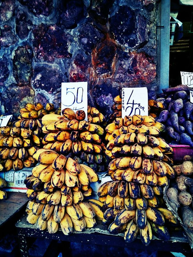 Bananas like these are normally used for cooking Desserts and Snacks :) ... Market Fruits Summer Fruits