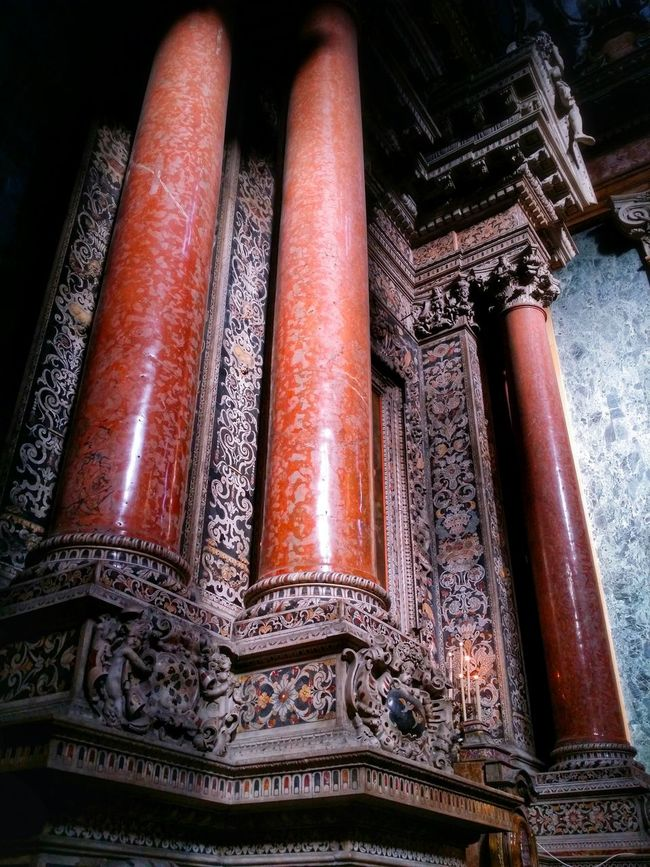 Chiesa Di San Giuseppe Dei Teatini Palermo Sicily Italy Travel Photography Travel Voyage Traveling Mobile Photography Fine Art Baroque Architecture Churches Red Marble Columns Extraordinary Decorations Magnificent Stunning Colours