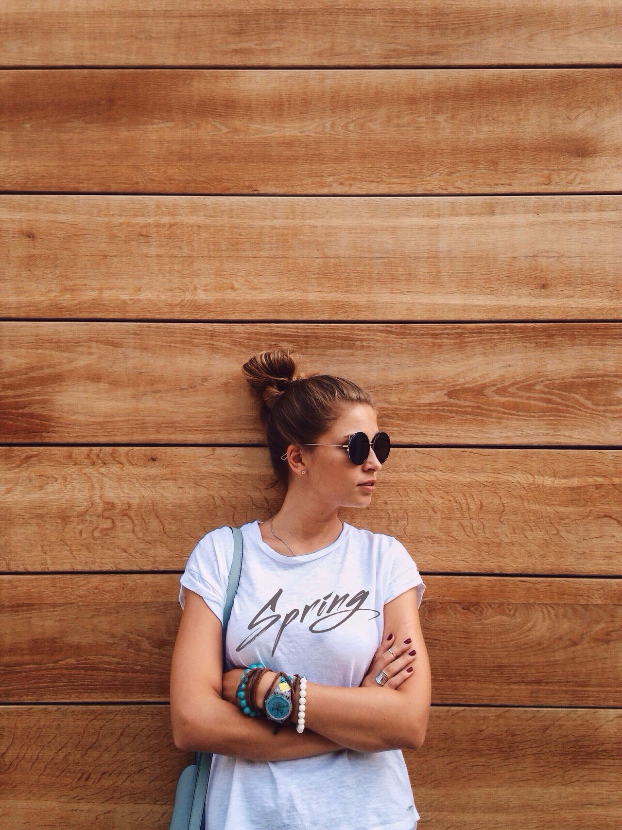Spring vibes Sunglasses One Person Young Adult Fashion Standing One Woman Only Portrait Only Women Outdoors Wooden House Clothes Stylish Outfit #OOTD Live For The Story