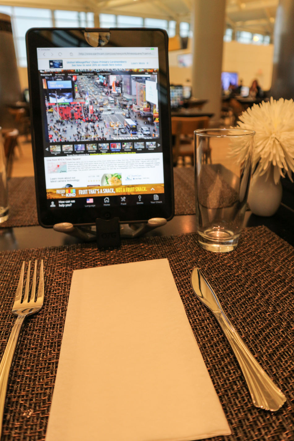 Technology Internet Wireless Technology Connection Business Communication Tablet Ordering Food Modern Communication Dining Dining Table