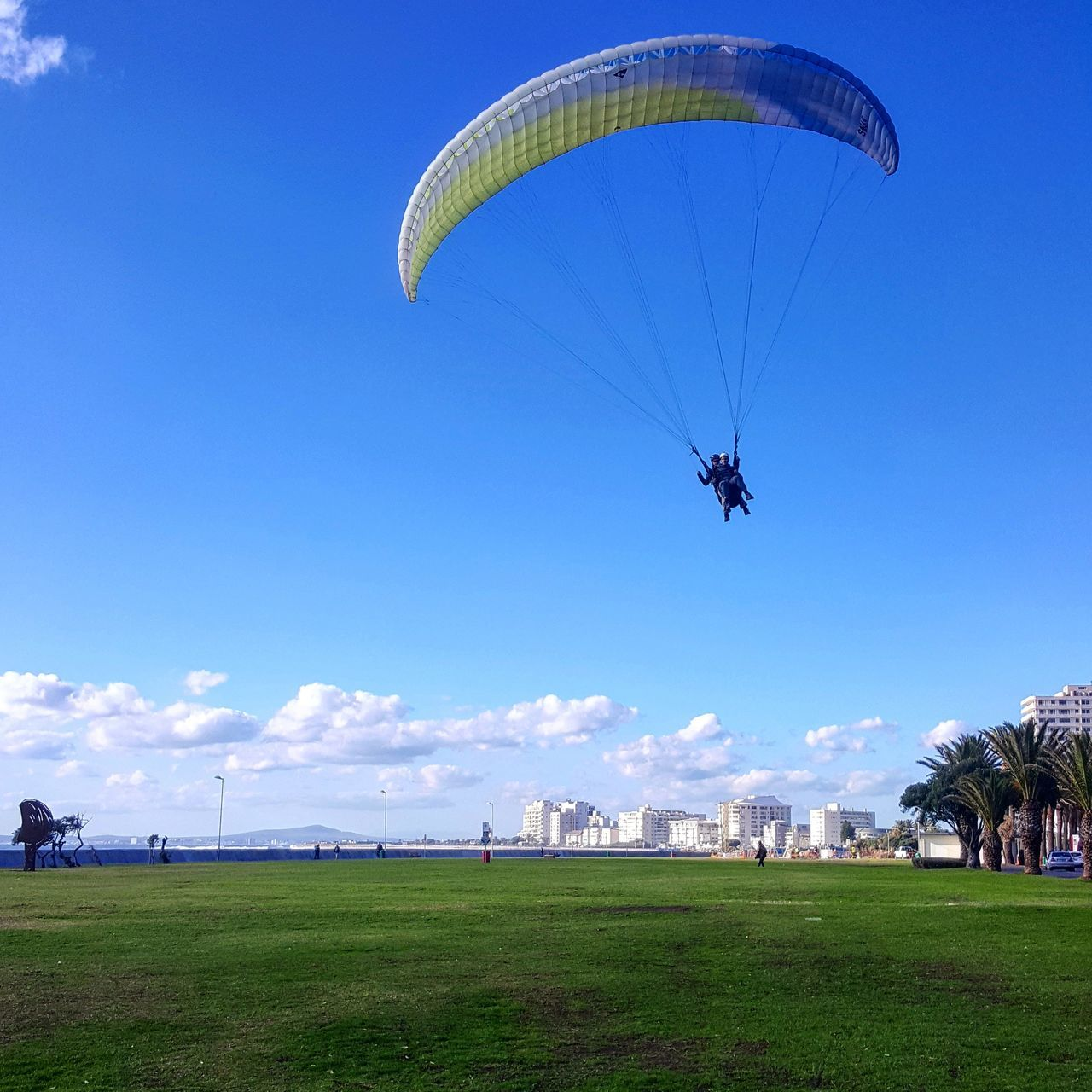 And then we got high Parachute Flying Mid-air Extreme Sports Paragliding Adventure Outdoors Sky Sport Flying High Free Landing Cape Town EyeEmNewHere African Winter Tandem