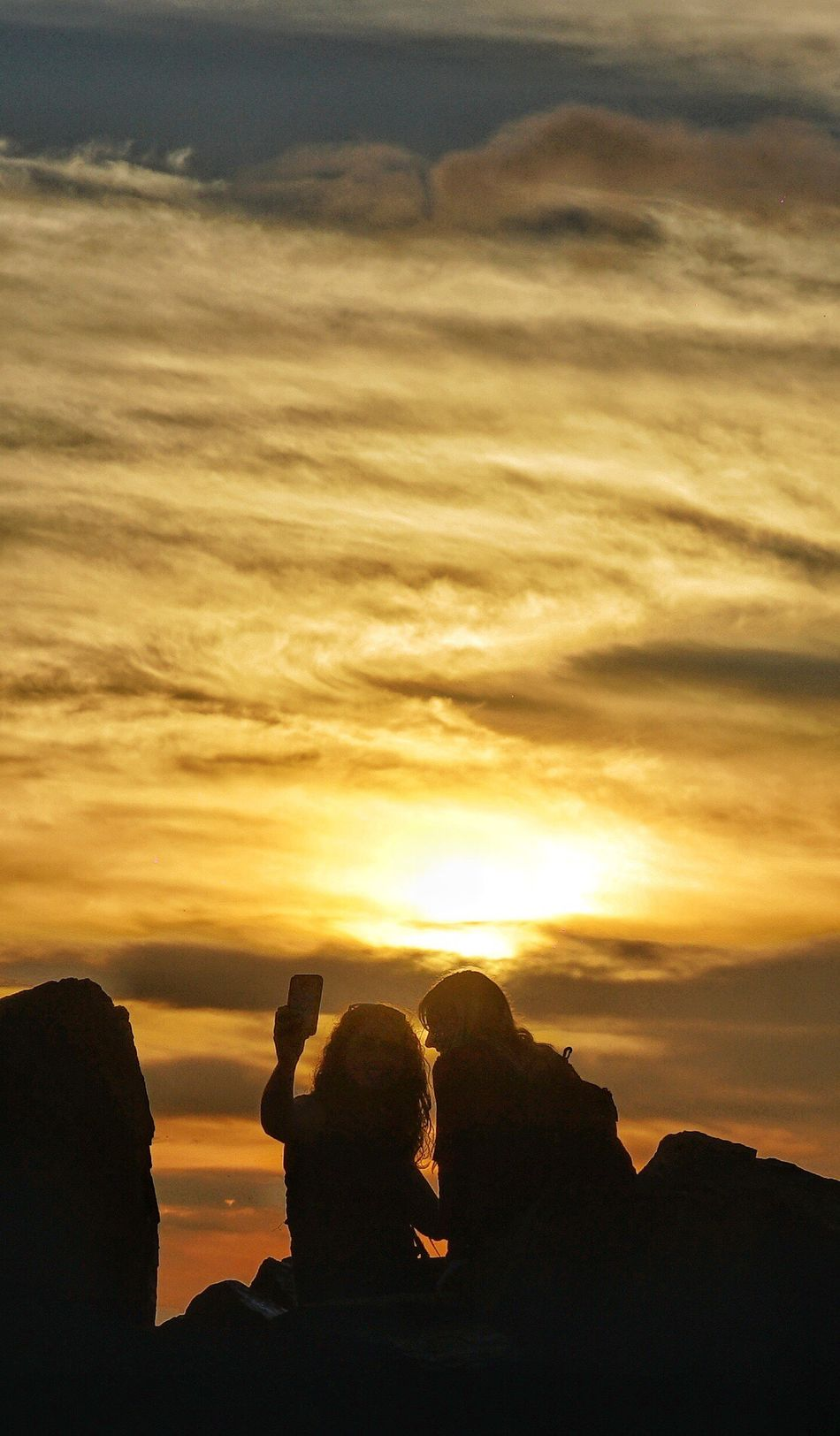 San Diego's sunset Sunset Silhouette Lifestyles Sky Real People Leisure Activity Beauty In Nature Men Cloud - Sky Scenics Nature Outdoors Women Bonding Friendship Togetherness People Human Body Part Adults Only Adult Canon 24-70 Sony A7RII Take