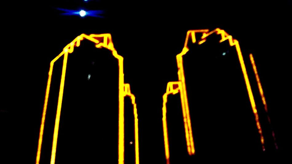 Outlined buildings Lights Rockwell Buildings Outlined Yellow Lights Yellow Night Lights Nightphotography Nightdriving