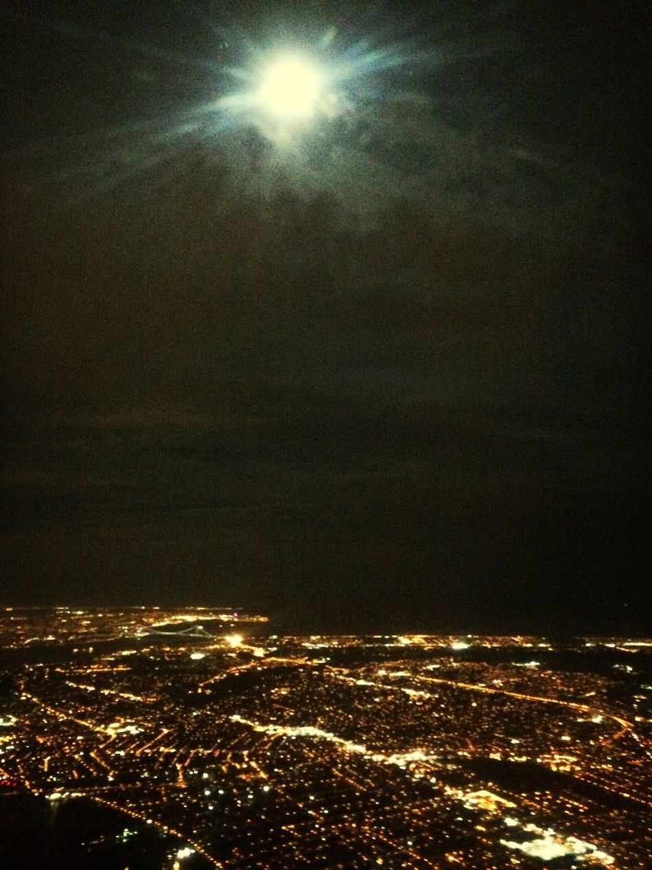 From An Airplane Window The Purist (no Edit, No Filter) Moon